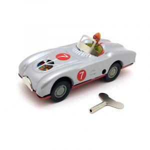 Klassisk Vintage Clockwork Racing Driver Bläddra Reminiscence Barn Barn Tenn Leksaker Med Nyckel