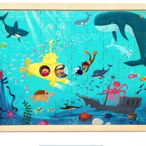 100st DIY pussel Undersea Värld 23cm trä utbildningsutveckling lärande träning leksak