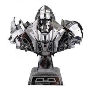 YM-N033 165 * 95 * 175mm MU DIY Pussel Toy 3D Metall Rostfritt Stål Autorobot Kit barns Present