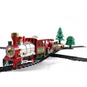 Christmas Electric Track Tåg Med Ljud Musik Barn Present Locomotive Modell Leksaker