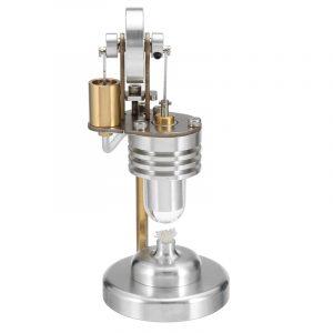 Mini Hot Air Vertikal Stirling Elektricitet Motor Generator Vetenskap Pedagogisk Leksaker
