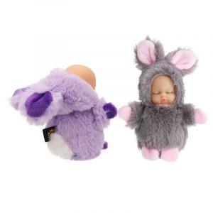 10cm söt kaninboll hängande plysch duk nyckelring väska / bil hängande tillbehör leksak