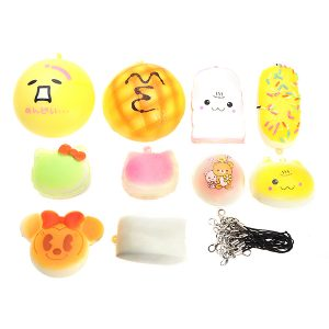 10st barns sportleksaker PU Skum Sponge Elastic Ball Roliga Babyleksaker biltoon QQ Expression Toy