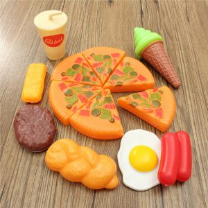 13st Plastic Pizza Cola Ice Cream Cut Play Setbarnren barns Pretend Roll Toy Toy
