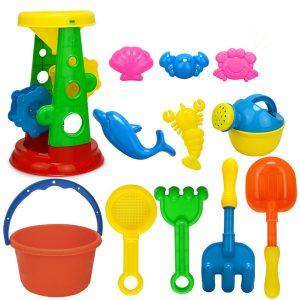12st / set sommarstrand sand leksaker sand vatten leksaker barn seaside bänk skovel rake kit leksaker