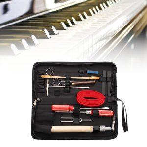 13stk professionell piano tuning underhåll verktygssats skiftnyckel hammare skruvmejsel med fall US