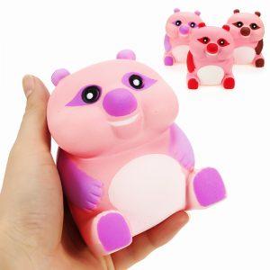 Squishy Bear 10cm Slow Rising Animals biltoon Collection Gåvor Decor Soft Squeeze Toy