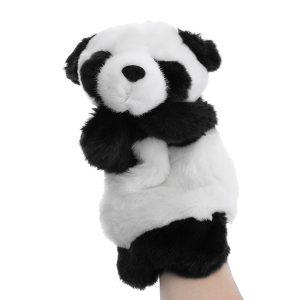 Baby Pussel Leksaker Söt biltoon Panda Hand Docka Baby Barn Docka Pussel Toy Hand Dockor Barn Story