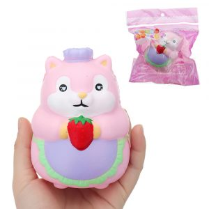 Chef Hamster Squishy 11 * 8 * 8cm långsammare med Packaging Collection Present Soft Toy
