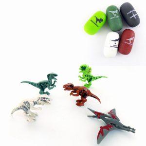 5st Dinosaurägg Velociraptor  Blockerar Leksaker