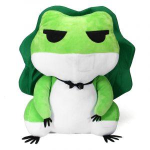 15 tum Fylld plysch Leksaker Travel Frog Söt Djur docka Leksaker Leksaker Keychain Dango Accessory