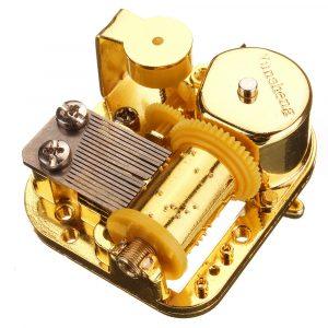 18 Notera Mekanisk DIY Windup Music låda Rörelse med skruvar nyckel