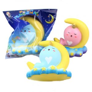 Sanqi Elan 16CM DjurSquishy Unicorn Moon NarWhale Slow Rebound Med Packaging Present Collection