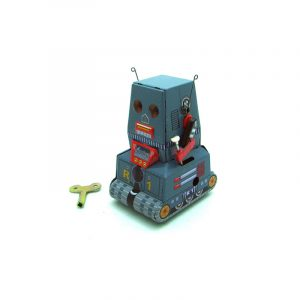 Klassisk Vintage Clockwork Wind Up Tank Robot Vuxen Samling Barn Tennleksaker med nyckel