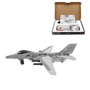 MoFun 3D Metal Pussel Modell Byggnad Rostfritt Stål Flygplan Fighter Plane 470st