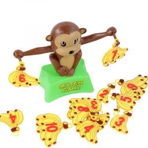 Monkey Math Balancing Scale Antal Balans Spel Barn Pedagogiska Toy Att Lär Lägg till och subtrahera