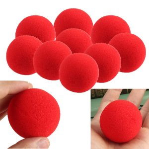 1pc Close Up Magic Street Trick Mjuk Svamp Ball Magic Props Clown Nose