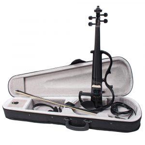 4 i 1 Elektrisk Fiol Fiddle med  Bågväska, Hörlurar & Kabel