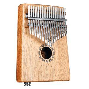 17 tangenter EQ C Tone Mahogany Kalimba Thumb Piano Finger Percussion med Pickup