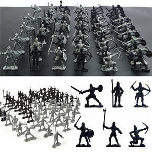 60st Sliver Black Mixing Static Modell Leksaker För Barn Barn Present