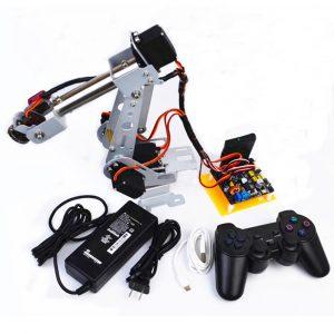 DIY Arduino 6DOF Rostfritt stål Radiostyrda Robot Arm PS2 Stick Control
