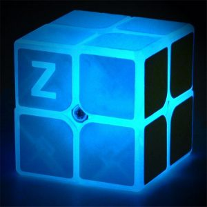 Classic Magic Cube Leksaker 2x2x2 PVC-klistermärke Block Puzzle Speed ​​Cube Dark Luminous