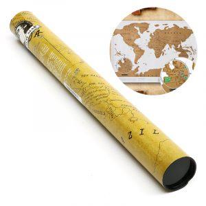 Paper Traveling Scratch Map World Edition Praktisk märkning Leksaker Gift