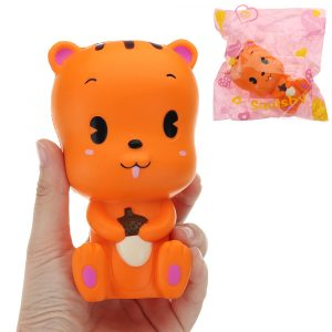 Ekorre Squishy 13 * 7,5cm långsammare med Packaging Collection Present Soft Toy