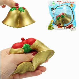 Chameleon Squishy Jul Jingle Bell Slow Rising Toy med förpackning barns Christmas Present Decor