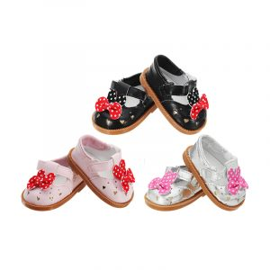18 tums söt Mickey Leather Shoes Accessoarer Toy För American Girl Fashion Classic Docka