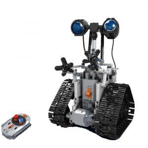 MoFun DIY 2.4G Patrol RC Robot Blockbyggnad Infraröd kontrollmonterad Robot Toy