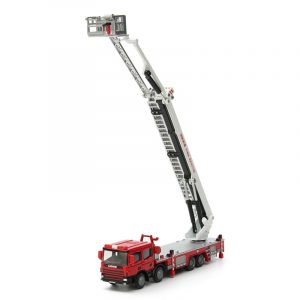 1:50 Scale Diecast Aerial Fire Truck Konstruktion Fordonsbilar Modell Toy