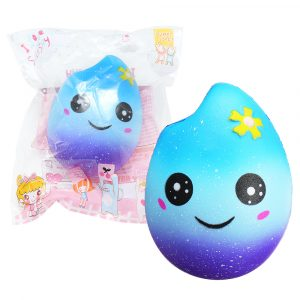 Sunny Galaxy Rice Squishy 10 * 7cm mjuk långsammare med Packaging Collection Present Toy