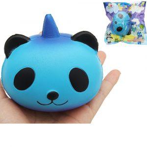 Sanqi Elan Galaxy Panda Unicorn Squishy 9,5 * 9 * 7,5cm Långsam Rising Med Packaging Collection Mjuk Toy