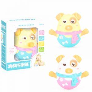 Tumbler docka babyleksaker 3 månader med Shaking Nod Function Swe Lärande Utbildning Leksaker Presenter