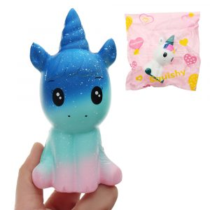 Unicorn Squishy 12 * 6,5 * 5cm långsammare med Packaging Collection Present Soft Toy