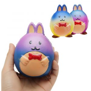 Kanin Squishy 9,8 * 7,5 CM långsam stigande barn dekompression Soft Present Collection Toy