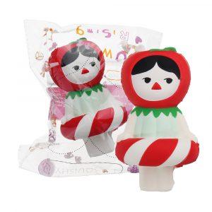 Julklapp Cherry Girl Squishy 13,5 * 8cm långsammare mjuka samling present inredning leksak med förpackning samling