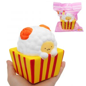 Cup Sheep Squishy 8 * 10cm långsammare med Packaging Collection Present Soft Toy