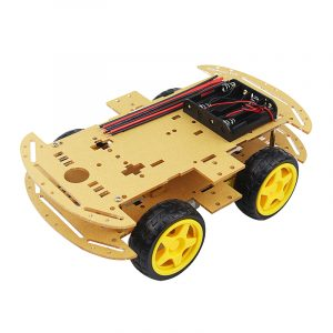 DIY 4WD Smart Robot bil Chassis Kit med Speed ​​Encoder