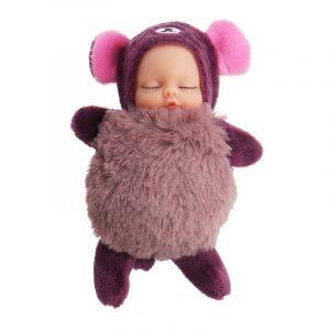 10cm Heta söta Mini Dockas Key Chain Leksaker biltoon Sova baby Plush Hängsmycke Modell Present till Ch