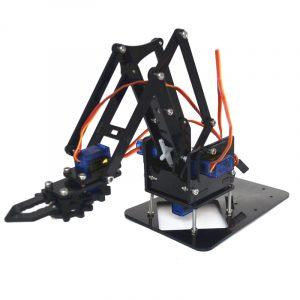4DOF Montering av Acrylic Mechine Robot Arm med SG90 Plast Gear Servo för Robot DIY