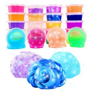 24st Färgstark Crystal Mud Non Toxic Slime Mud Leksaker Pinata Luminous Ramen Soil DIY Environmental Toy