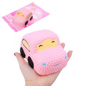 Squishy bil Racer Pink Cake Mjukt Långsam Rising Toy Scented Squeeze bröd