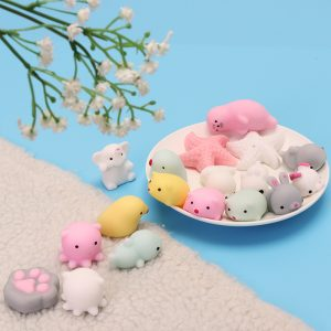 Pink White Starfish Mochi Squishy Squeeze Healing Toy Kawaii Collection Stress Reliever Present Decor