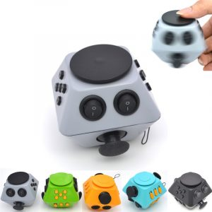 Nya Fidget Dice Lättar Stress Leksaker Anti Stress Autism ADHD För Barn Vuxen Cube Present