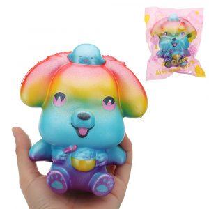 Galaxy Puppy Squishy 14 * 7,5 * 8cm långsammare med Packaging Collection Present Soft Toy