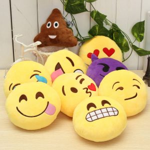 5,9 '' 15 cm Emoji Smiley Emoticon Fylld Plysch Mjukt Toy Runda Kudde Prydnad Decor Present