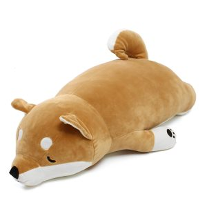 Jumbo 90cm fylld plysch leksak gåva anime shiba inu hund mjuk plysch kudde djur husdjur docka