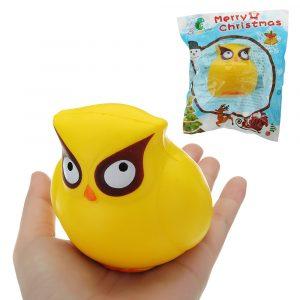 Uggla Squishy 18cm långsammare med Packaging Collection Present Soft Toy